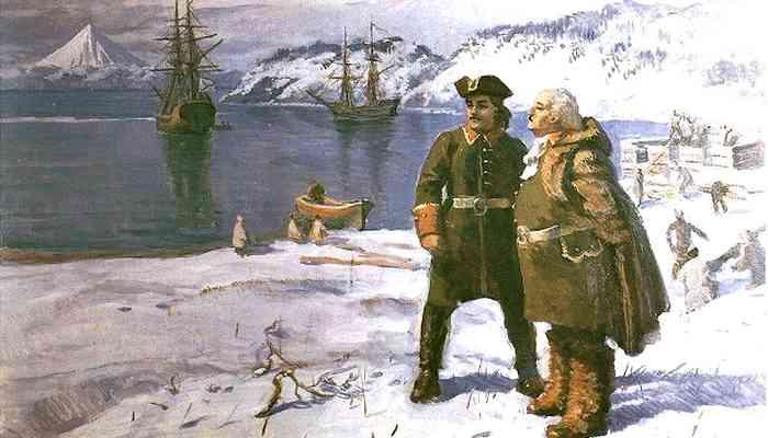 Витус Беринг и Алексей Чириков в Петропавловске-Камчатском 1740 год.
